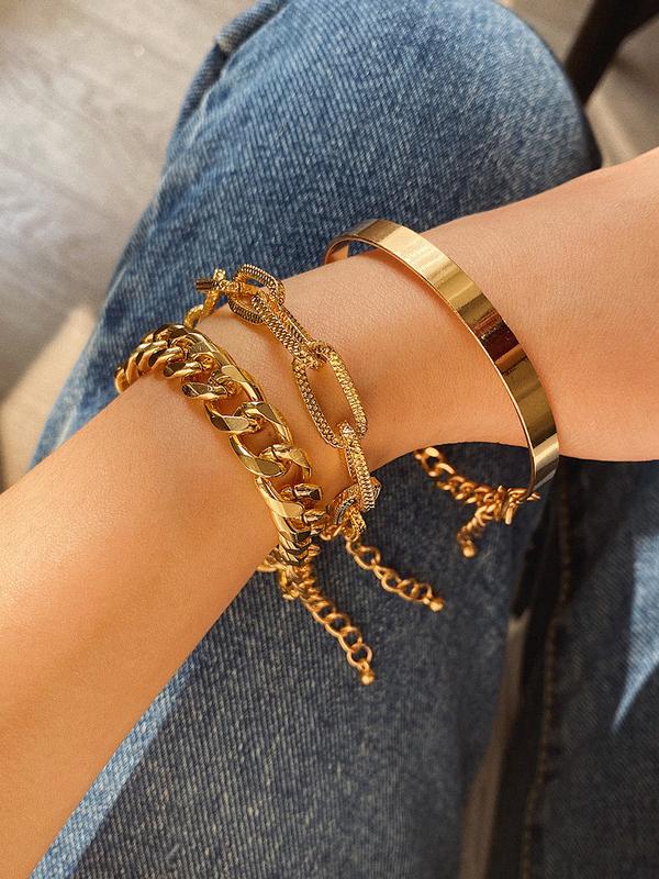 Crazy Chain Three Piece Bracelets For Women