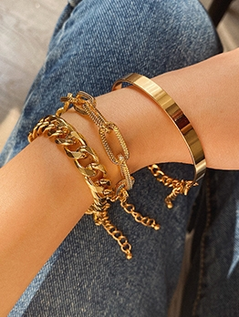 Crazy Chain Three Piece Bracelets For Women