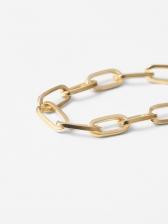 Euro Letter Carving Chain Bracelets For Women