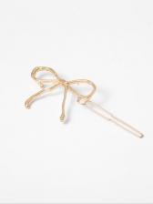 Hot Sale Bow Shape Gold Hair Clips