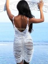 Summer Love Cut Hollow Out Sleeveless Bikini Dress