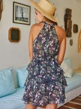 Vintage Style Floral Sleeveless Summer Dress