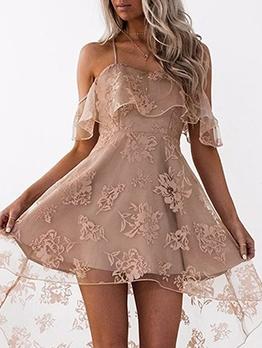 Gauze Patchwork High-Low Summer Dresses