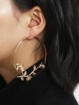 Chic Flower Statement Earrings For Women