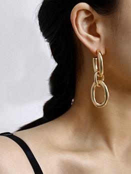 Simple Geometric Long Earrings For Women