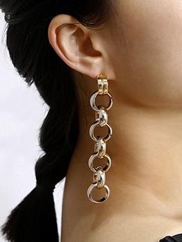 Creative Geometric Long Statement Earrings