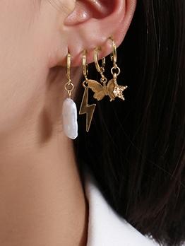 Butterfly Star Lightning Drop Earrings Sets