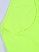 Fluorescence Color Zipper Up Cami Top