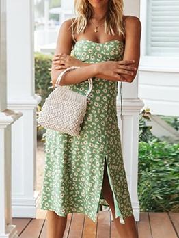 Vintage Daisy Pattern Slip Summer Dresses