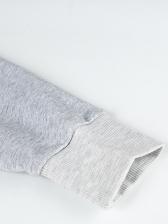 Irregular Design Butterfly Cropped Sweatshirt