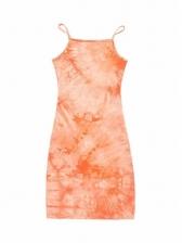Stylish Slim Fit Tie Dye Women Sundress