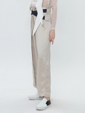 Minimalist Style Straight Pants For Women