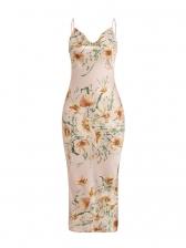 Charming Flower Printed Sleeveless Maxi Dress