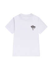 Simple Style Crew Neck T Shirts For Women