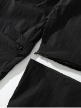 Detachable Loose Drawstring Men Cargo Pants