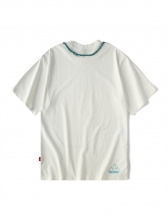 Loose Contrast Tips Letter Pattern t Shirt