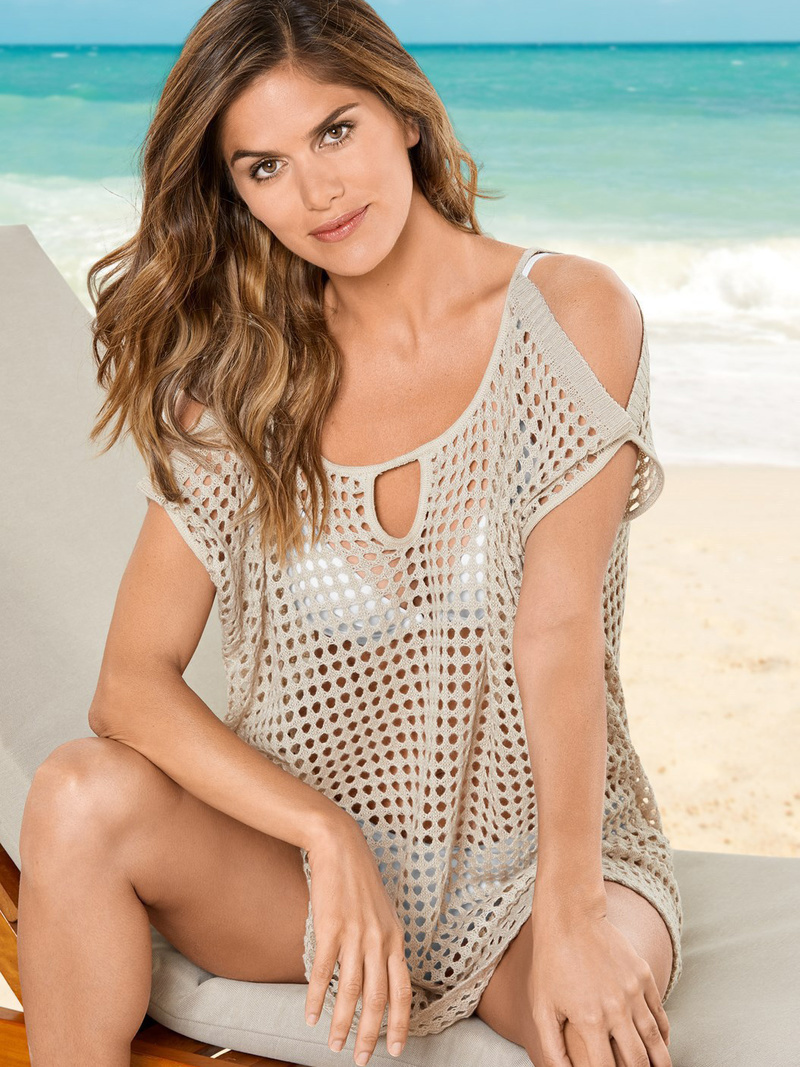 Cold Shoulder Hollow Out Solid Bikini Cover Ups