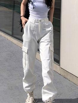 Casual High Waist Multi-Pocket Cargo Pants