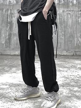 Hip-Pop Drawstring Solid Men Jogger Pants