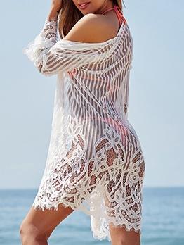 Summer Beach Lightweight Lace Swimwear Cover Up