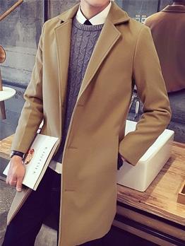 Woolen Fit Solid Mens Winter Coats