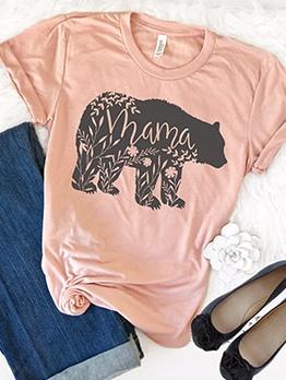 MAMA Bear Printed T Shirts For Women