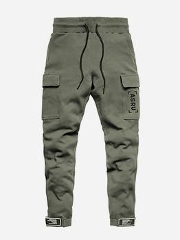 Drawstring Casual Mens Pants With Pockets