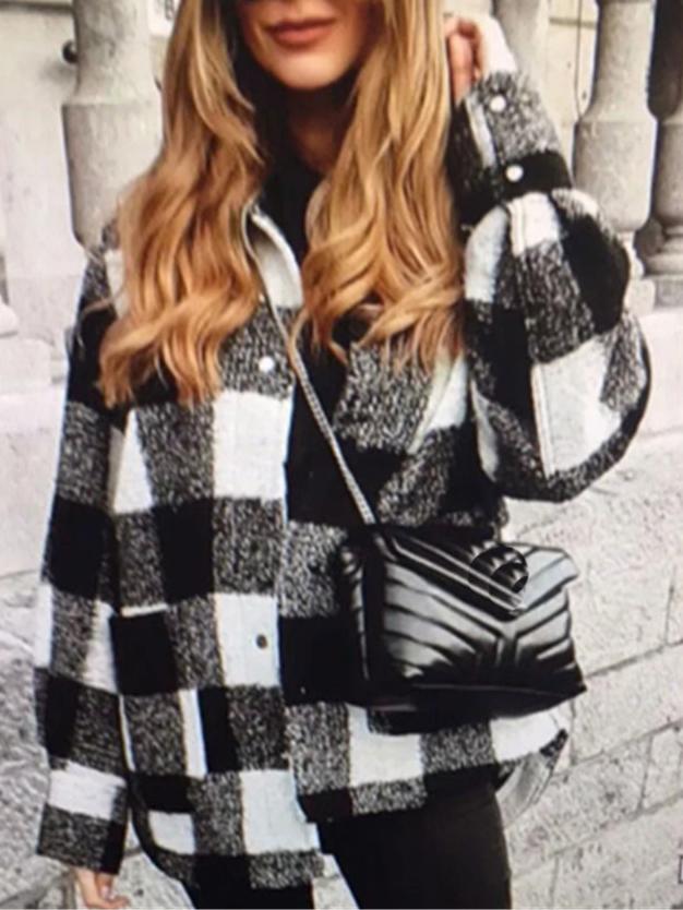 Thicken Plaid Women\\\'s Winter Coats