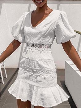 Casual v Neck Short Sleeve Summer Dresses