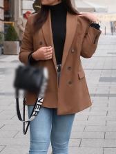 Spring Simple Style Solid Color Ladies Blazer