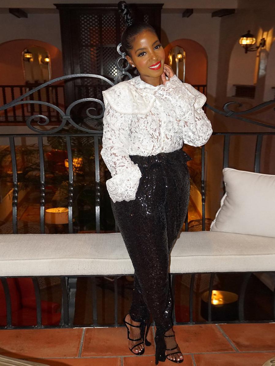 Fashion Mid Waist Sequin Pants