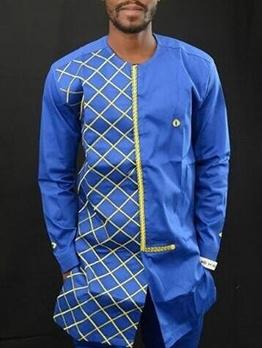 African Patchwork Long Sleeve Men Activewear Sale