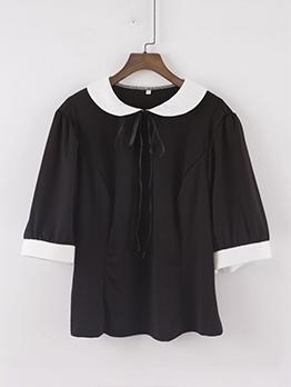Summer White Patchwork Black Oversized T Shirt