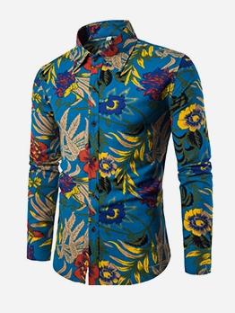 Versatile Tribal Print Men Button Up Shirts