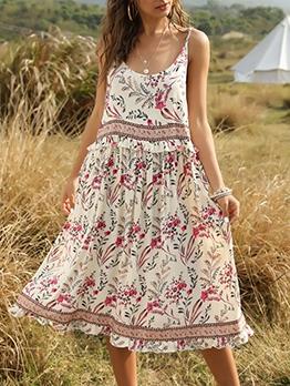 Large Hem Loose Summer Sleeveless Dress