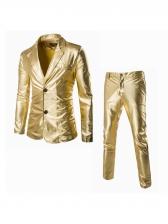 Casual Long Sleeve Men Slim Fit Suits