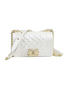 Solid Mini Size Female Shoulder Rhombus Bag