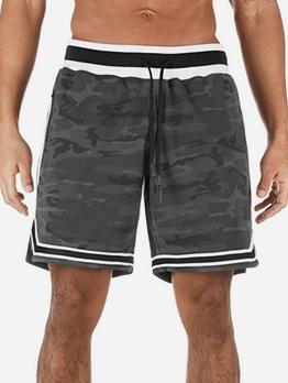 Zipper Pocket Sport Style Short Pants For Men