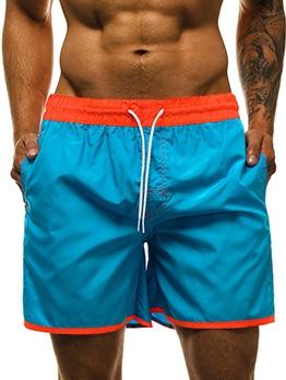 Color Patchwork Multiple Pocket Short Pants For Men