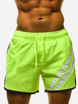 Bright Color Elastic Waist Beach Short Pants For Men