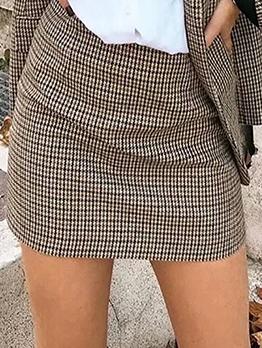 New Arrival Houndstooth Short Skirt For Women