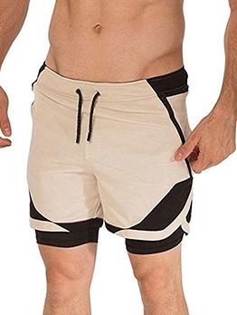 Sporty Contrast Color Men Short Trousers