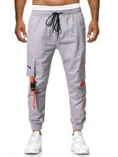 Casual Pockets Drawstring Cargo Pants