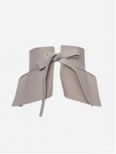 Simple Design Solid PU Tie-Wrap Waist Belt