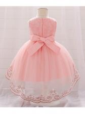 Stereo Flower Sleeveless Lace Girl Dresses Gown