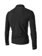 Fashion Dots Mens Long Sleeve Polo Shirts