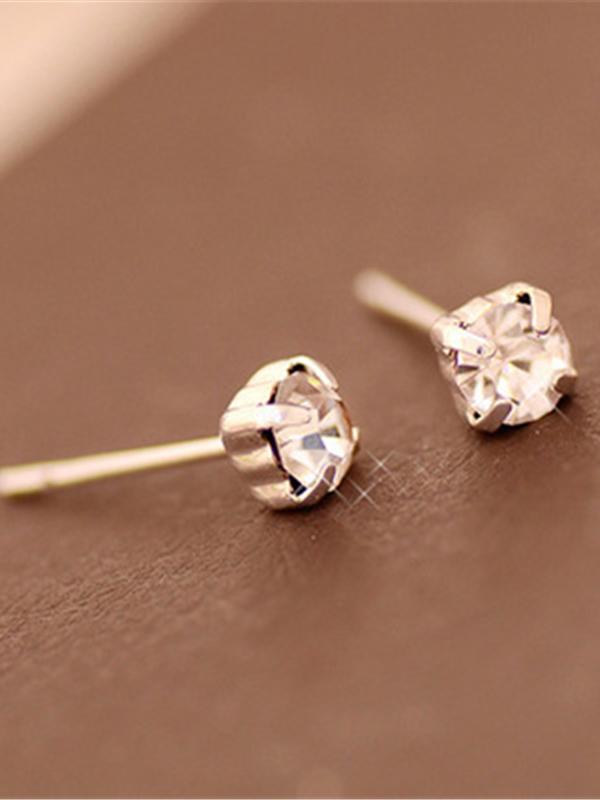 Classic Rhinestone Stud Earrings For Women