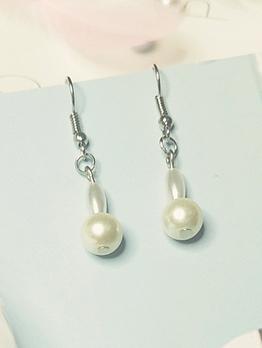 Irregular Faux Pearl Drop Earrings