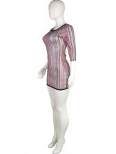 Fashion Colorful Striped Mesh Beach Dresses