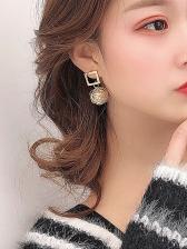 Creative Faux Pearl Bird Nest Earrings For Women